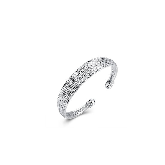 Silver Plated Open Bangle Bracelet