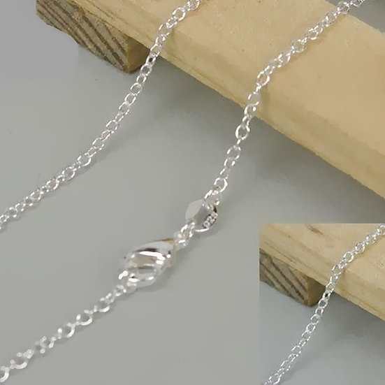 Sterling Silver O Ring Necklace