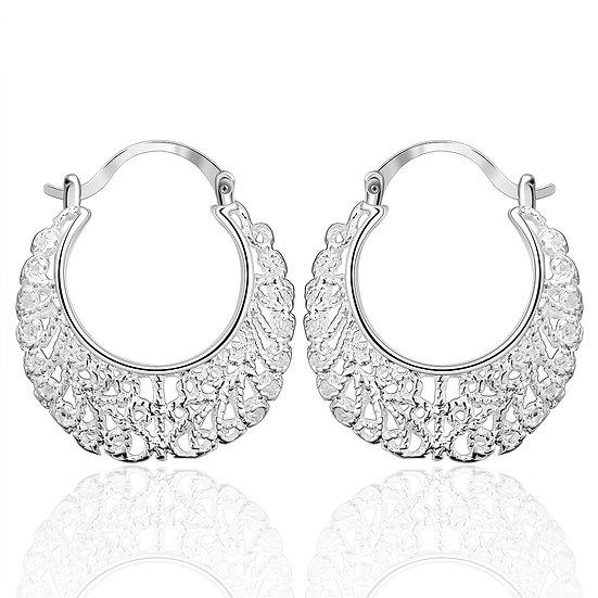 Elegant Fashion Jewelry 925 Silver Plated Stud Dangle Earrings Eardrop