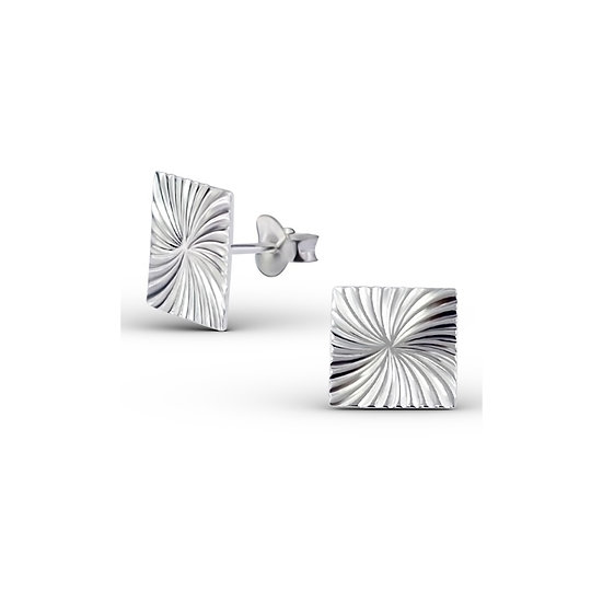 925 Sterling Silver Square Ear Studs