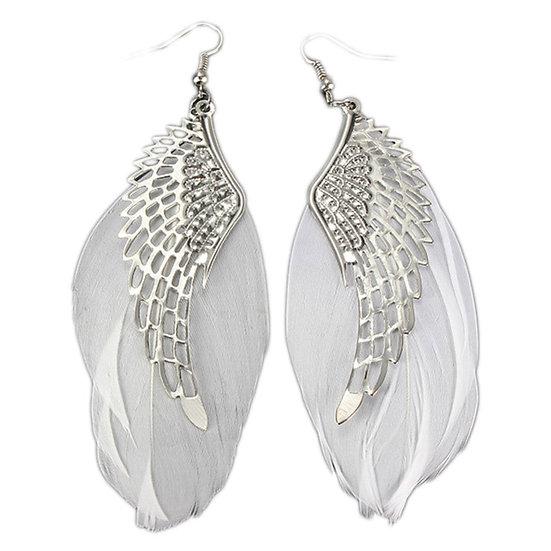 Retro Angel Wings Feather Earrings