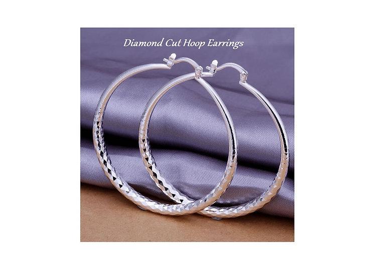 Round Hoop Earrings  Silver