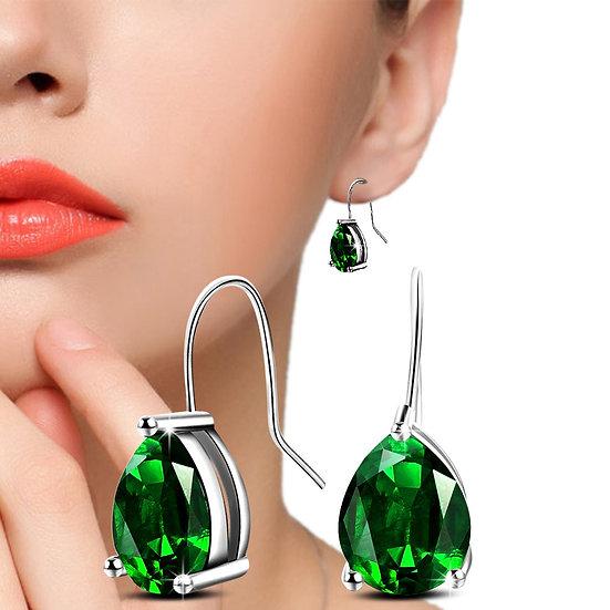 French Hook Crystal Earrings