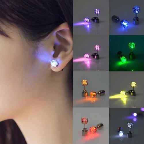 Light Up LED Bling Earrings