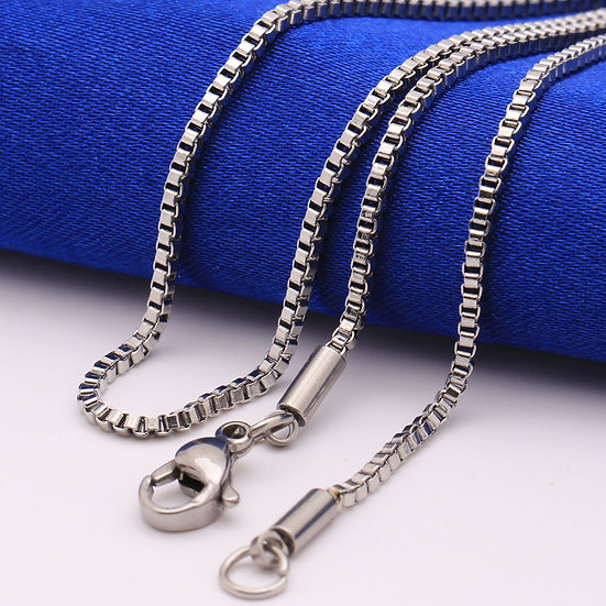 Titanium over Stainless Steel 1.5mm Box Chain