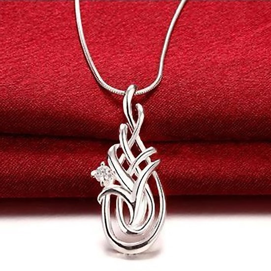 Tear Drop Pendant with Free Necklace