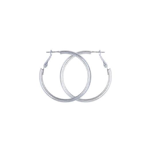 5MM Silver Plated Tubular Hoop