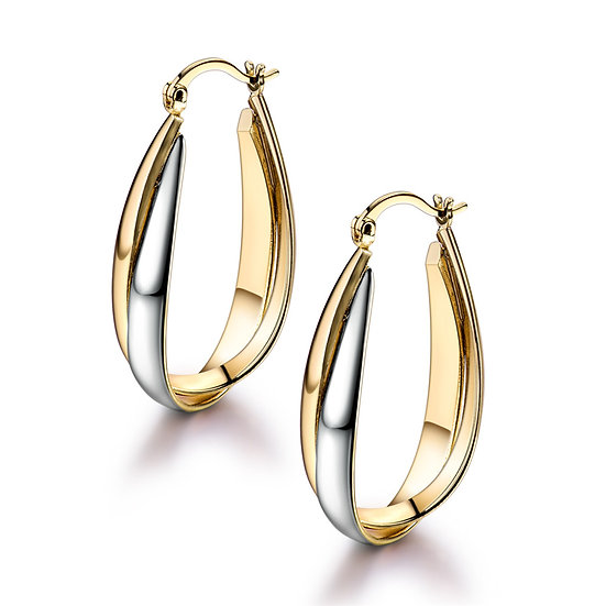 Lever Closure Style Hoop Earrings