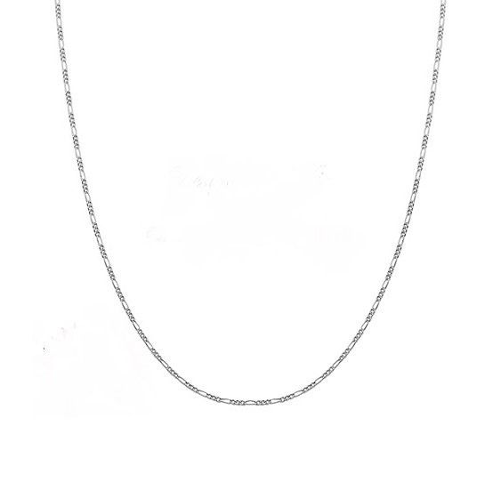1.2mm Figaro Necklace Chain-Silver Plated