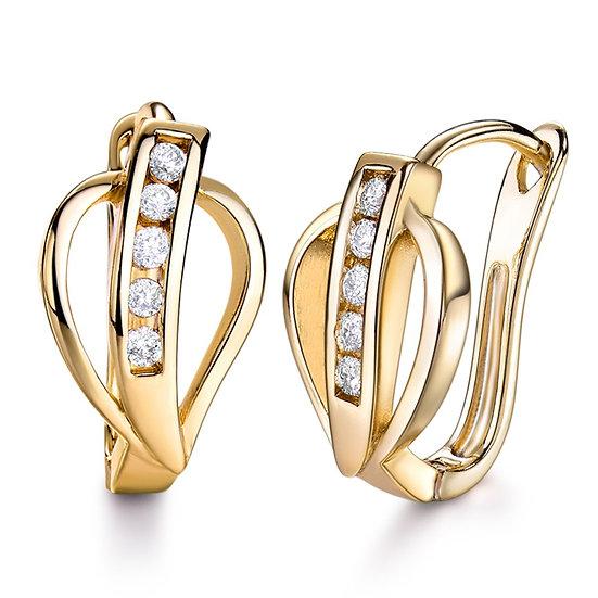 Infinity CZ Hoop Earrings