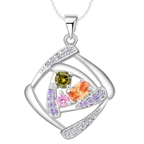 Square High Quality Crystal Pendant