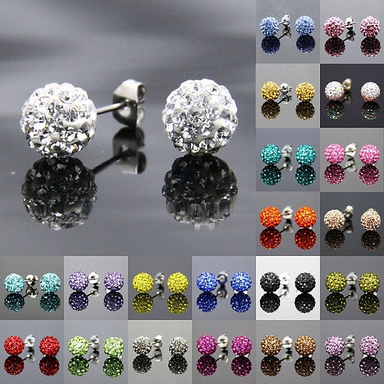 Disco Ball Stud Earrings