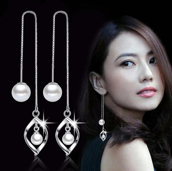 Tassel Imitation Pearl Earrings
