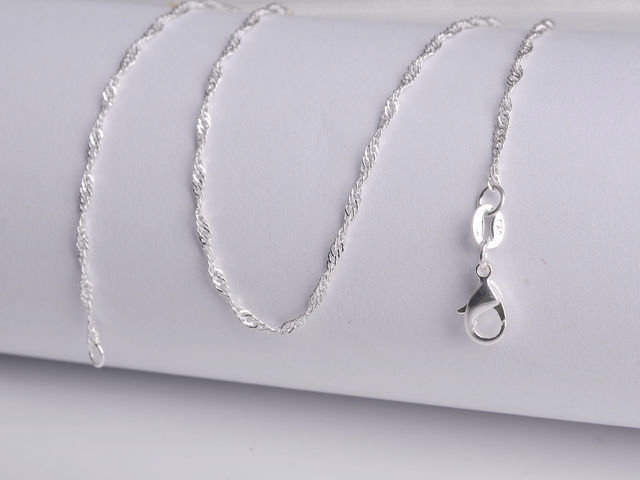 Sterling Silver Water Wave Necklaces