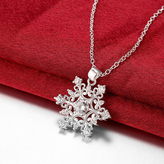 Snowflake Pendant with CZ ~ Earrings