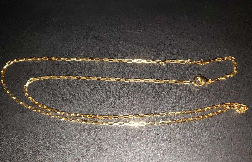 18K Gold Filled Long Box Chains