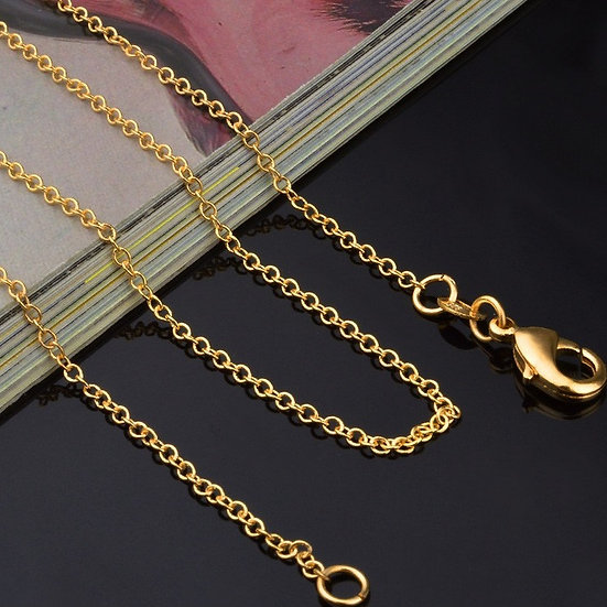 Gold Plated O Ring Necklace