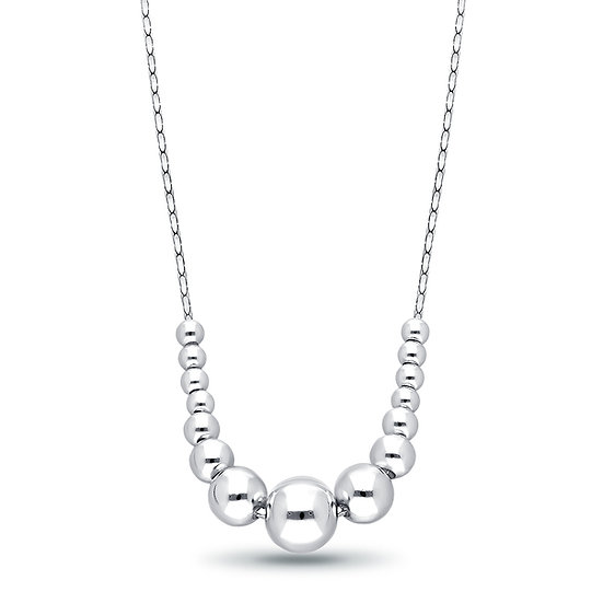 925 Sterling Silver Ball Necklace or Ball Earrings