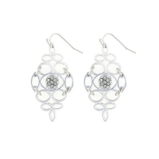 Matte Silver Dangle Earrings