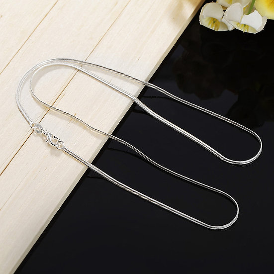 2MM Flat Snake Chain Silver Plated