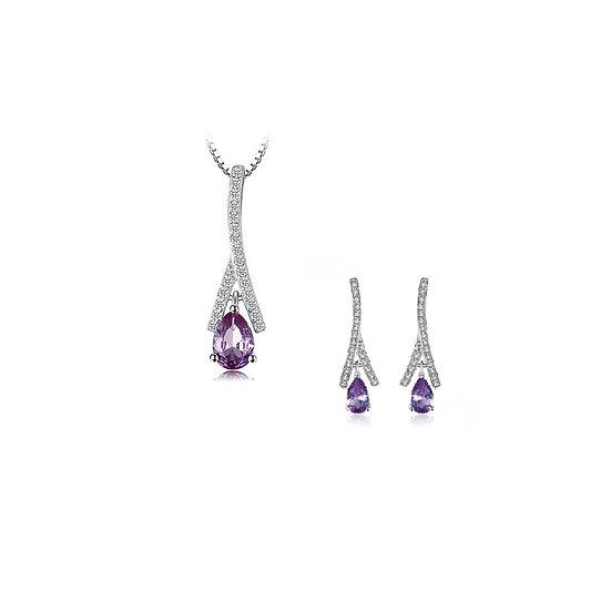 Alexandrite Sapphire Pendant or Earrings