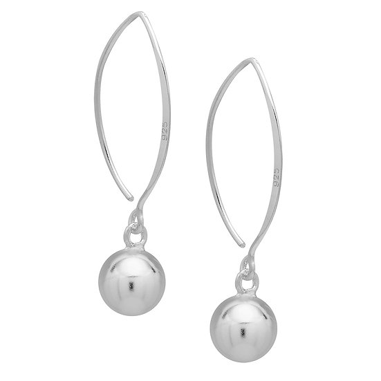 925 Sterling Silver Ball Earrings