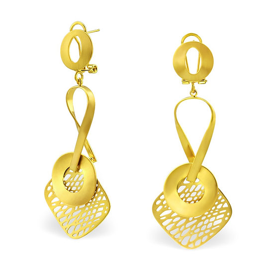 Mixed Geometric Earrings
