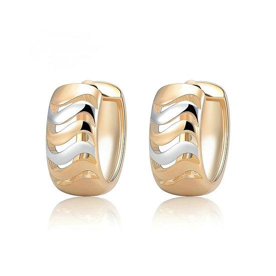 Hollow Stripe Huggie Hoop Earrings