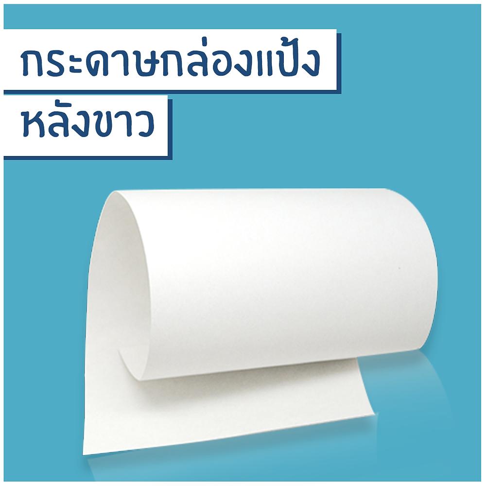กระดาษกล่องแป้งหลังขาว หรือ Duplex board with white back