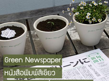 Green Newspaper หนังสือพิมพ์สีเขียว ปลูกบนดิน งอกขึ้นมาเป็นดอกไม้