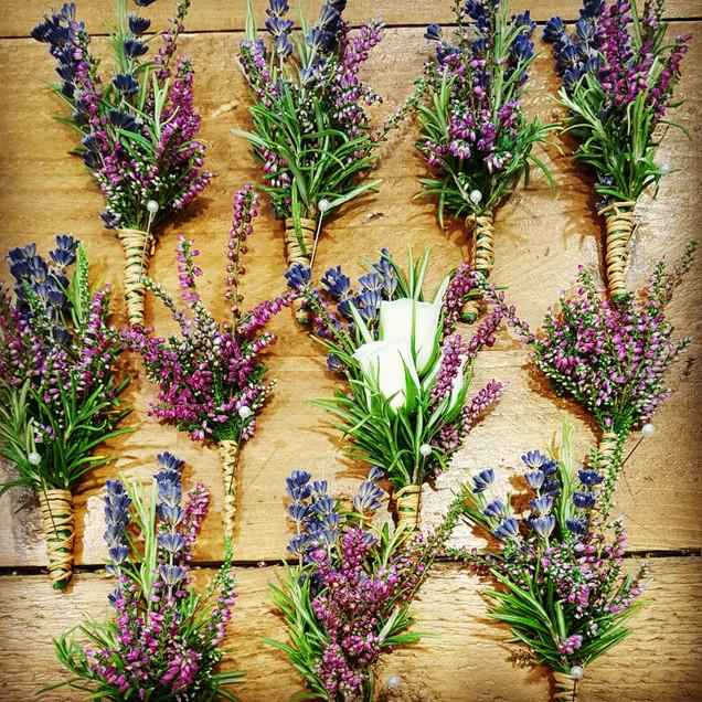 Heather lavender buttonholes.jpg