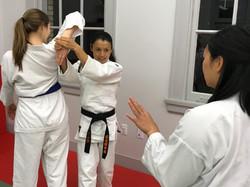 Natsumi teaching women's Aikido NOLA