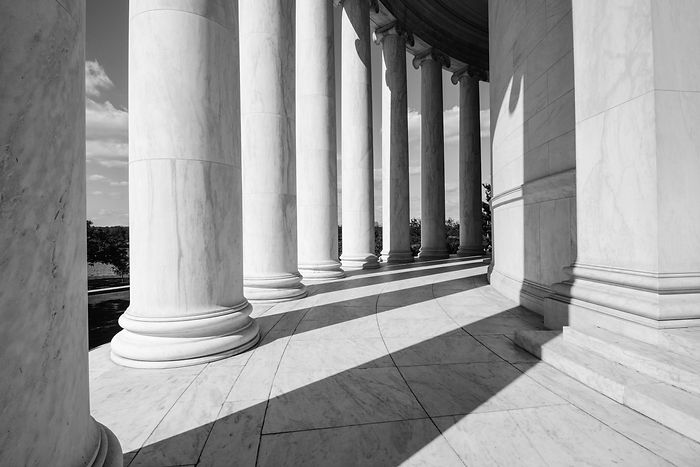United States federal government building facade