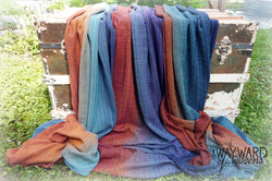 3 sister pieces, draped over trunk
