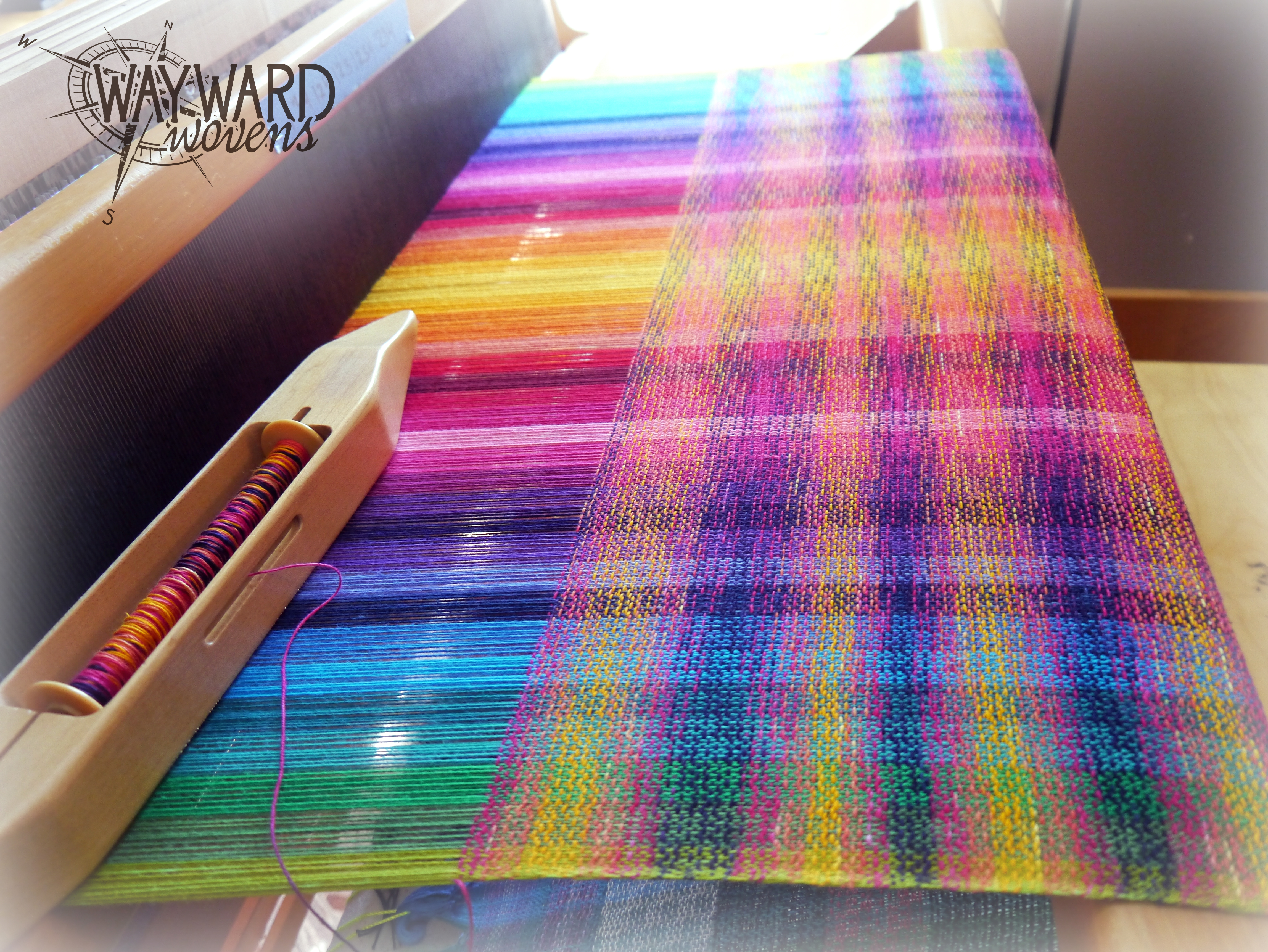 Woven cloth on the loom