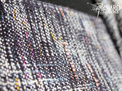Cotton weft with inlays