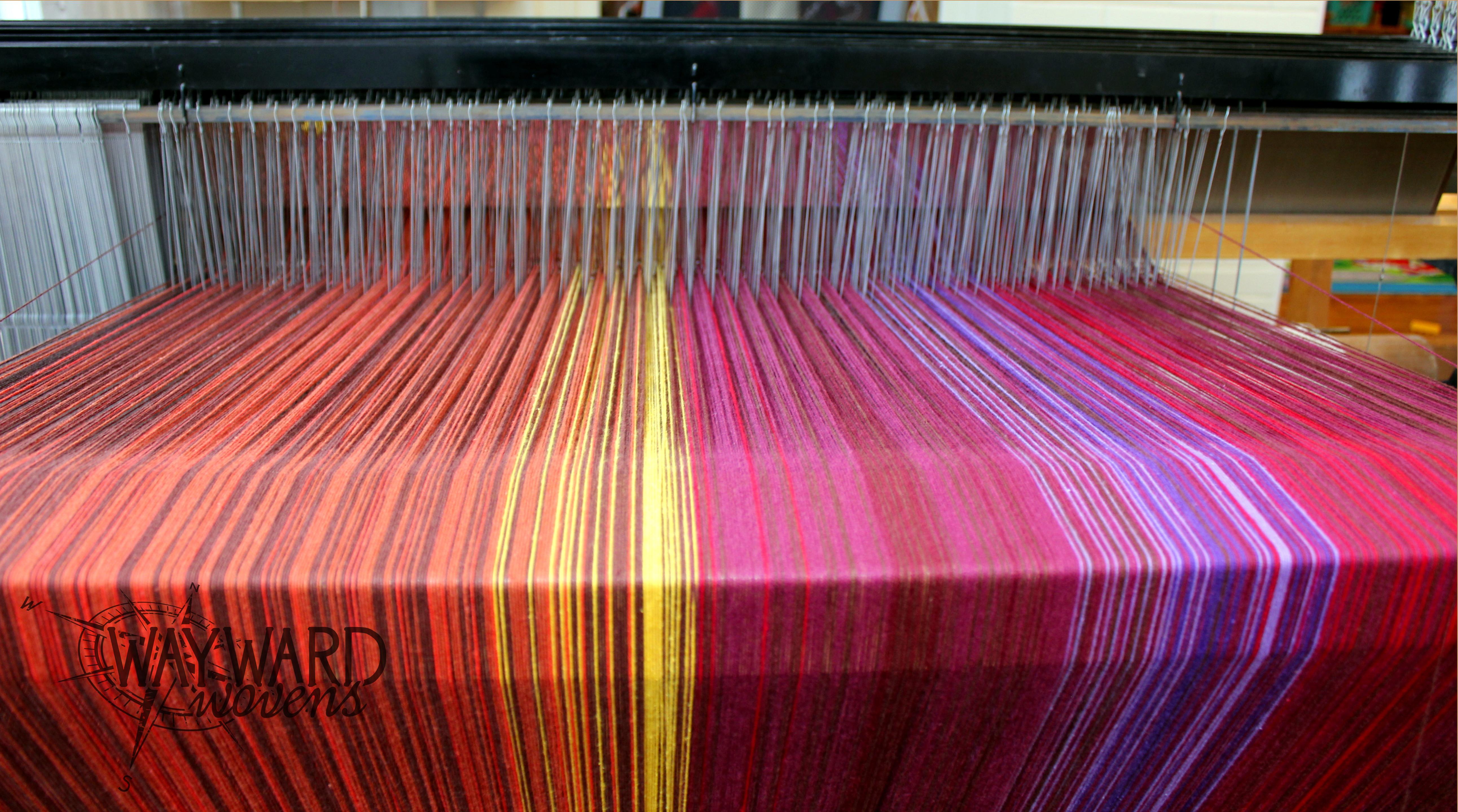 Warp on the floor loom