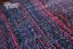 Woven cloth, blue weft
