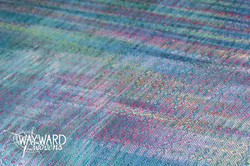 Weaving hand dyed weft color pooling
