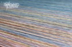 Warp threads on the loom