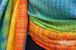 Rainbow Tencel weft