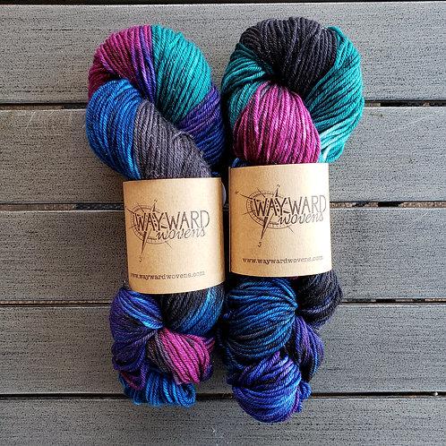 Space Jam - DK Superwash wool and Stellina Yarn