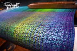Woven cloth, purple weft
