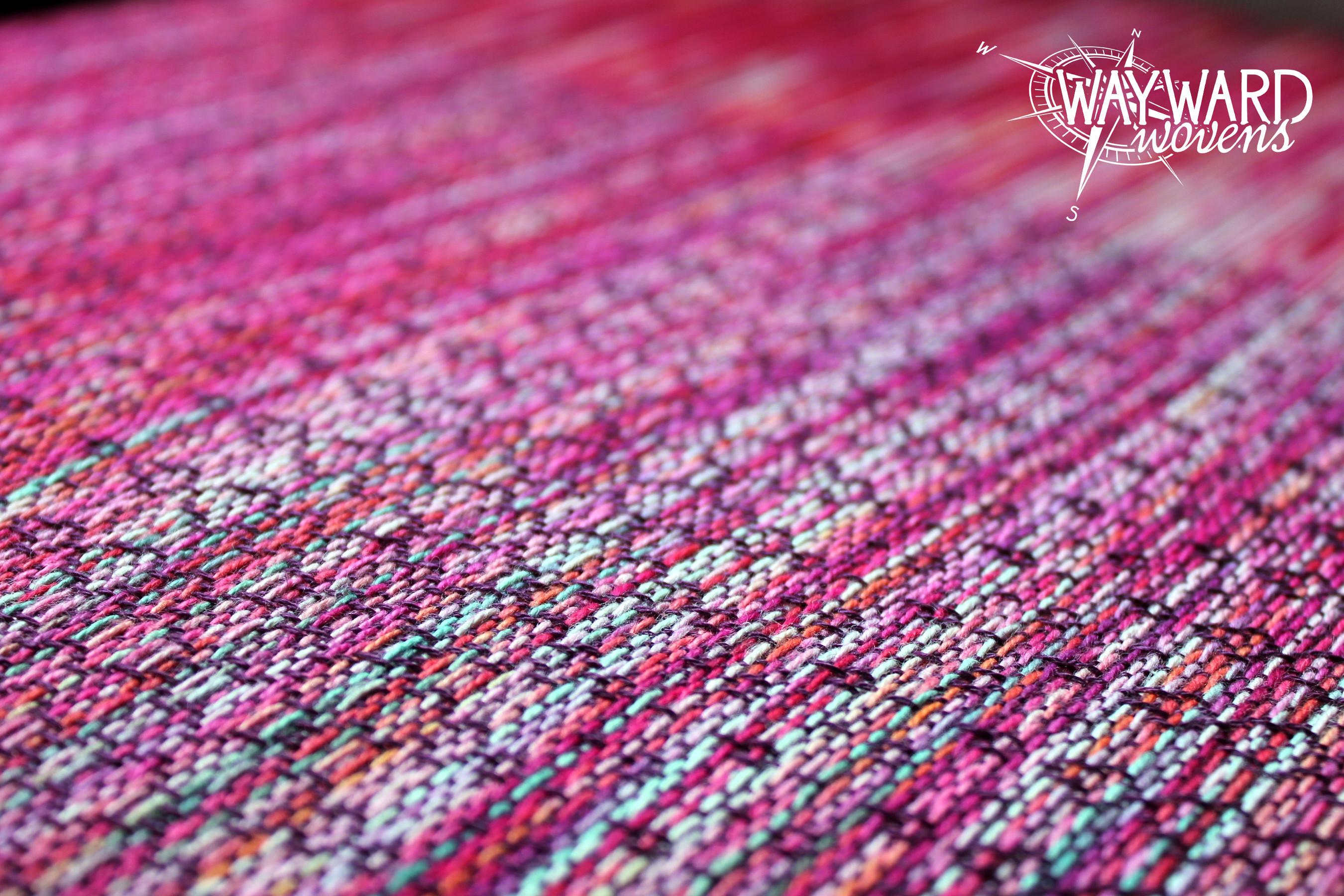 Woven cloth, eggplant Tencel weft