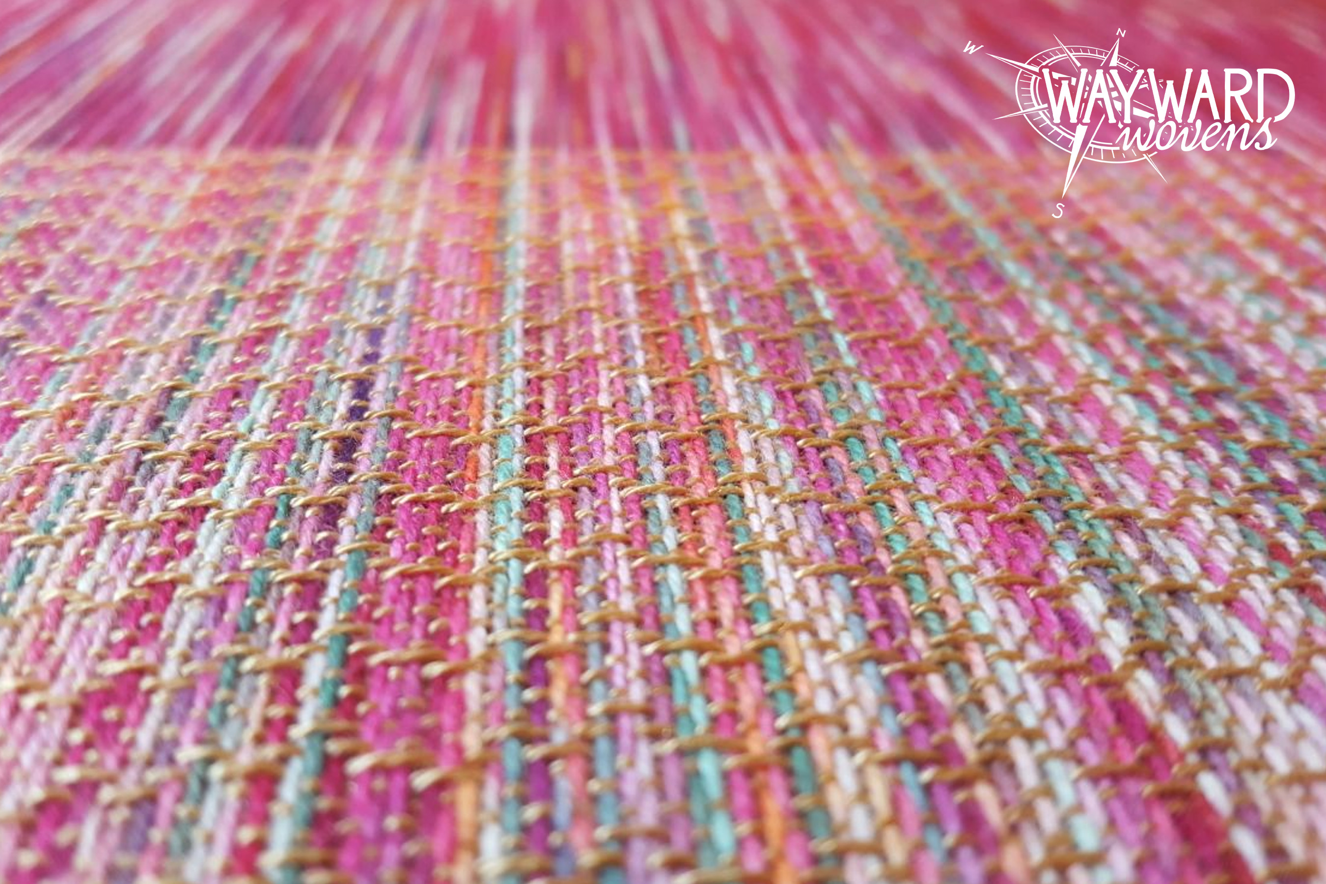 Woven cloth, gold Tencel weft