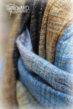 Woven wrap, close up, draped pleats