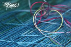 Warp threads with single weft thread