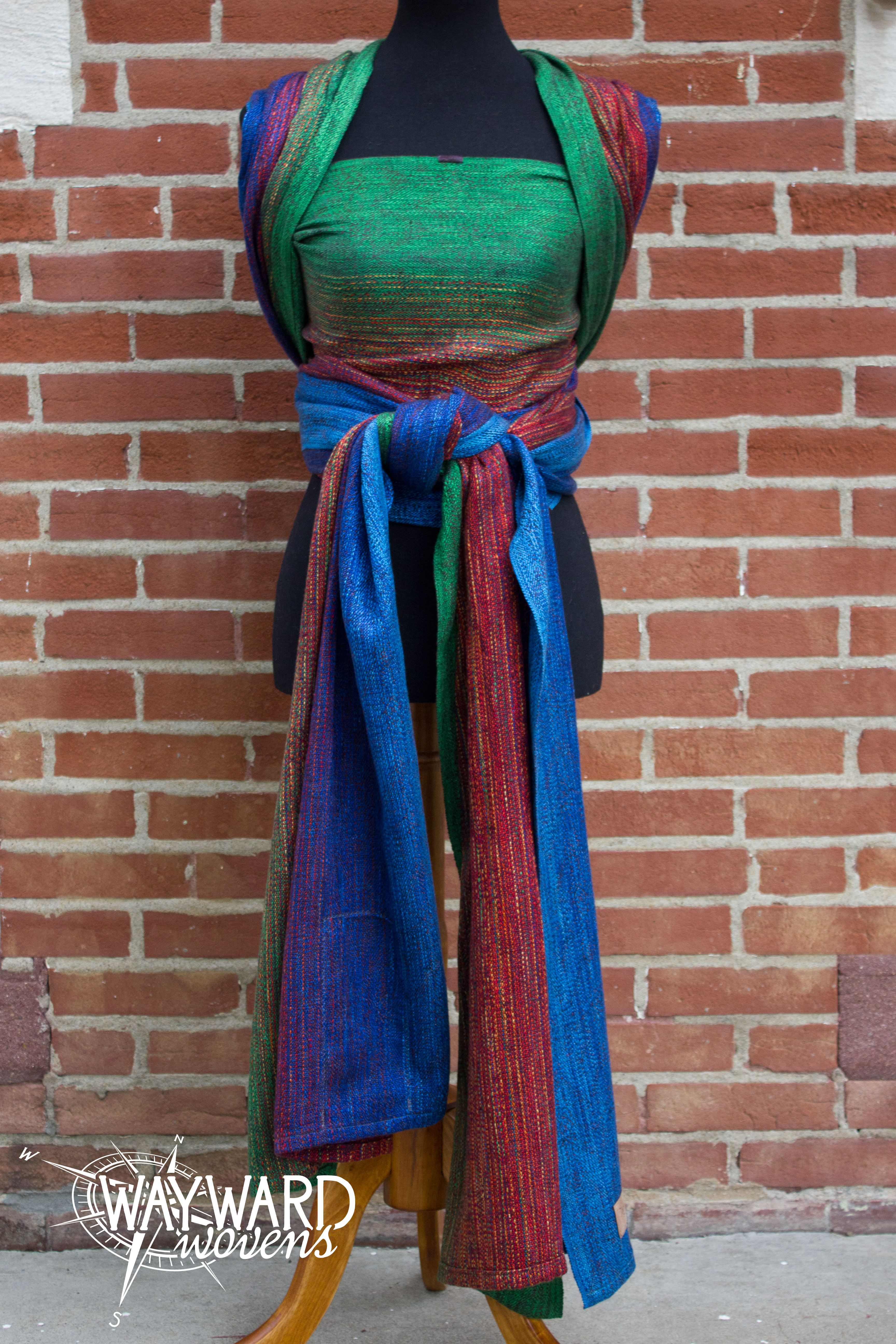 wrapped on mannequin