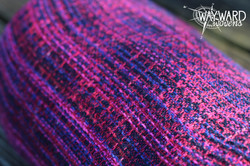Woven wrap, rolled, top view