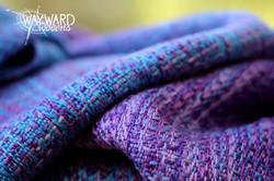 Woven wrap, marine silk weft